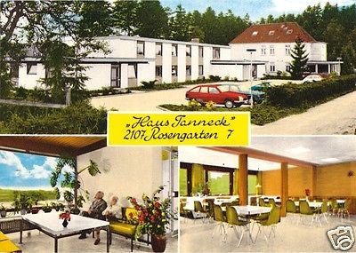 Ansichtskarte, Rosengarten Landkreis Harburg, Haus Tanneck, drei Abb., um 1965