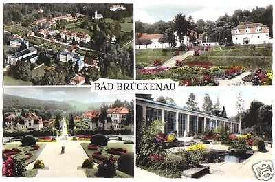 Ansichtskarte, Bad Brückenau, vier Abb., 1960
