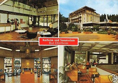 Ansichtskarte, Bad Dürrheim, Kurheim und Sanatorium, vier Abb., 1989