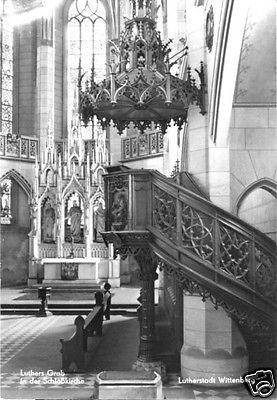Ansichtskarte, Wittenberg Lutherstadt, Schloßkirche, Luthers Grab