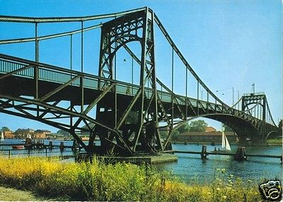 Ansichtskarte, Wilhelmshaven, Kaiser-Wilhelm-Brücke, um 1955