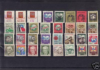 32 verschiedene Spendenmarken, FDGB, 1970er/1980er