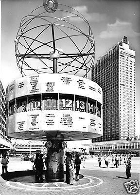 Ansichtskarte, Berlin Mitte, Alexanderplatz, Weltzeituhr und Interhotel Stadt Berlin, 1978