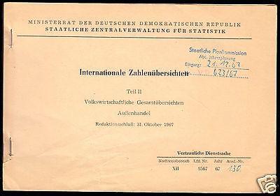 Volkswirtschaftl. Gesamtübersichen, Außenhandel, 1967, Vertrauliche Dienstsache 0