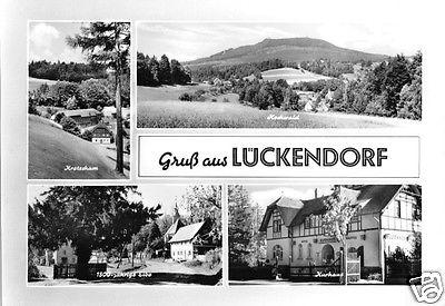 Ansichtskarte, Lückendorf Kr. Zittau, vier Abb., gestaltet, 1967