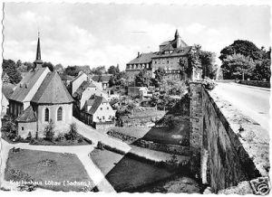 Ansichtskarte, Löbau Sachs., Blick zum Krankenhaus, 1962