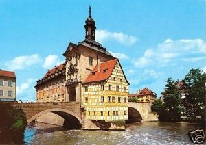 Ansichtskarte, Bamberg a.d. Regnitz, Altes Rathaus, um 1990