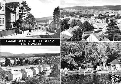 Ansichtskarte, Tambach-Dietharz, vier Abb., 1971