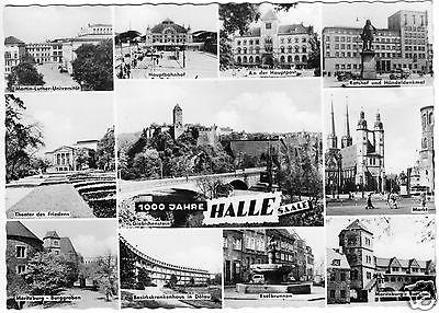 Ansichtskarte, Halle Saale, 1000 Jahre Halle, elf Abb., 1961