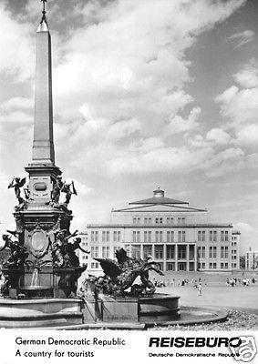 Ansichtskarte, Leipzig, Blick zum Opernhaus,  Zudruck Reisebüro der DDR, 1964