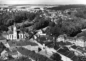 Ansichtskarte, Moorbad Lobenstein, Teilansicht vom Alten Turm, 1972