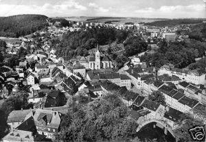 Ansichtskarte, Lobenstein, Blick vom Alten Turm, 1984