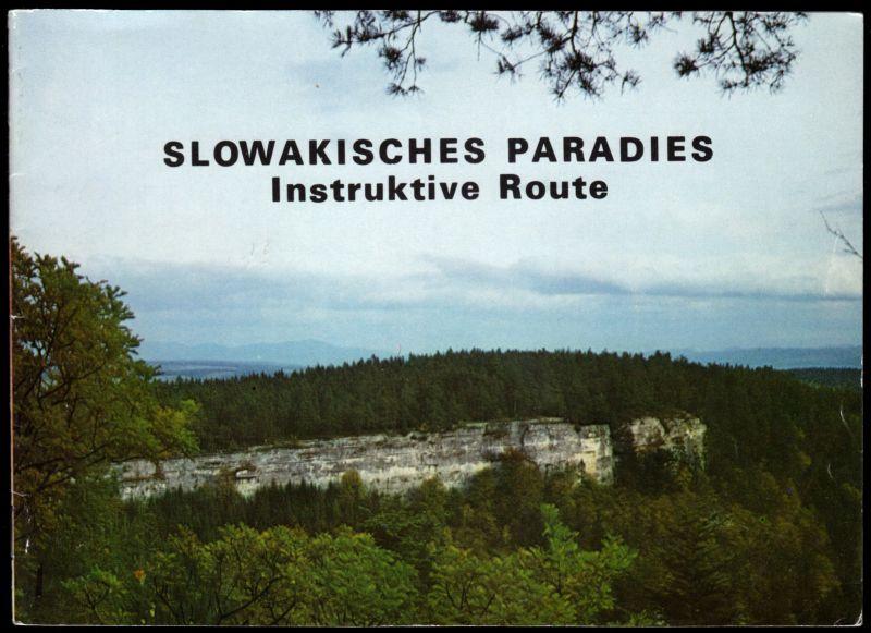 Touristische Broschüre, Slowakisches Paradies - Instruktive Route, 1973