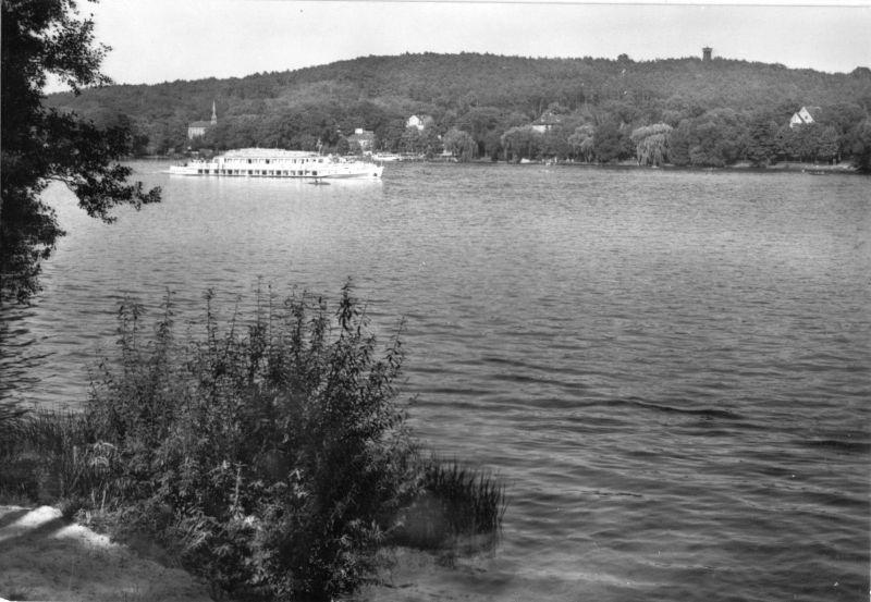 Ansichtskarte, Woltersdorf bei Erkner, Partie am Flakensee, 1976