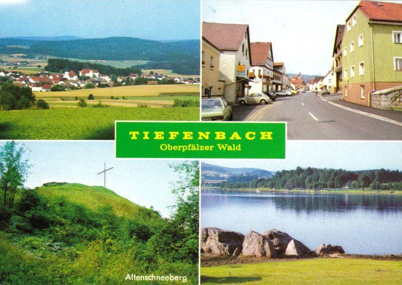 Ansichtskarte, Tiefenbach Oberpfälzer Wald, vier Abb., 1989
