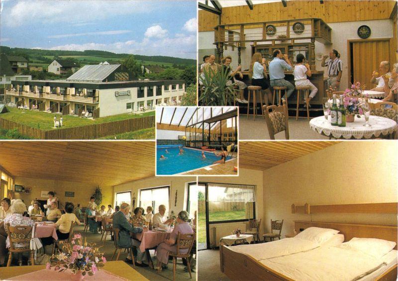 Ansichtskarte, Knüllwald, OT Rengshausen, Kurhaus Roß, Elgeskaute 3, vier Abb., 1995