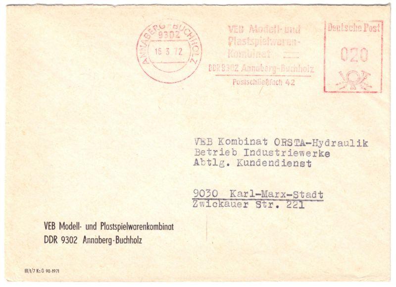 AFS, VEB Modell und Plastespielwaren ..., o Annaberg-Buchholz, 9302, 16.3.72