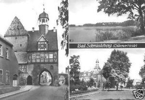 Ansichtskarte, Bad Schmiedeberg Dübener Heide, drei Abb., 1986