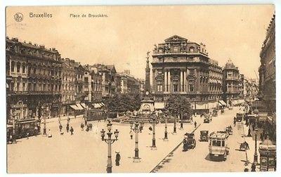 Ansichtskarte, Brüssel, Bruxelles, Place de Brouckère, 1915