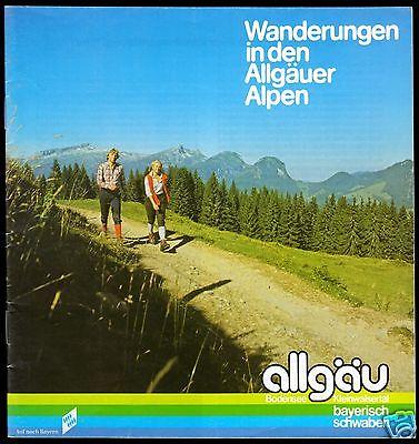 Tour. Broschüre, Wanderungen in den Allgäuer Alpen, um 1988