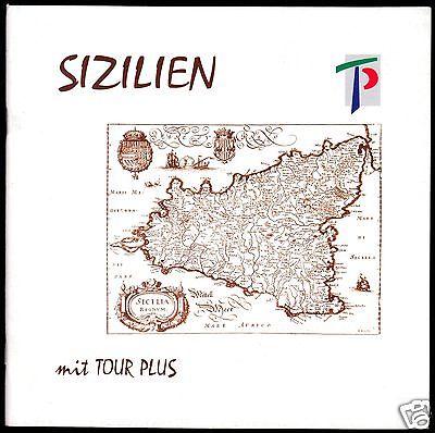 Tour. Broschüre, Sizilien  mit Tour Plus, um 1996