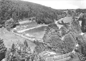 Ansichtskarte, Lobenstein Thür., Freibad im Koseltal, 1980