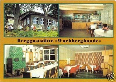 Ansichtskarte, Saupsdorf Kr. Sebnitz, Berggaststätte Wachbergbaude