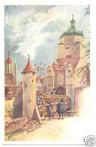 Ansichtskarte, Ulm, Teilansicht, Künstlerkarte, um 1906