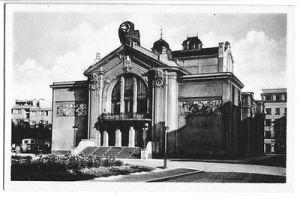 Ansichtskarte, Pardubice, Mestske divaldo, ca. 1936