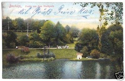 Ansichtskarte, Bochum, Partie im Stadtpark, 1908