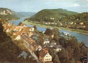 Ansichtskarte, Stadt Wehlen Sächs. Schweiz, Teilansicht, ca. 1990