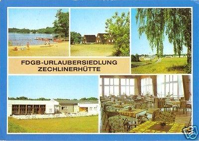 Ansichtskarte, Zechlinerhütte Neuruppin, FDGB-Urlaubersdl., 1985