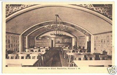 Ansichtskarte, Münster Westf., Städt. Ratskeller, Gastraum, 1927