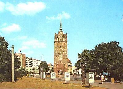 Ansichtskarte, Rostock, Partie am Kröpeliner Tor, 1986