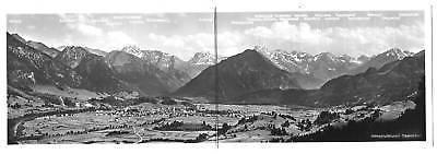 Ansichtskarte, Doppel-Ansichtskarte, Oberstdorf, Panorama, ca. 1960 0