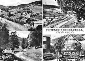 Ansichtskarte, Schönbrunn Thür. Wald, vier Abb., 1978