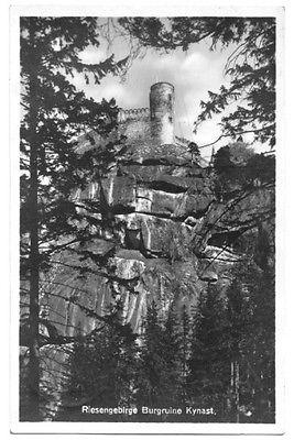 Ansichtskarte, Riesengebirge, Burgruine Kynast, 1935
