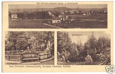 Ansichtskarte, Bad Dürrheim Schwarzw., drei Abb., 1929