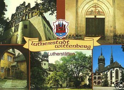 Ansichtskarte, Lutherstadt Wittenberg, 5 Abb. u.a. Lutherhof, 1991