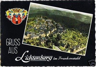 Ansichtskarte, Lichtenberg Ofr., Teilansicht, gestaltet, 1963