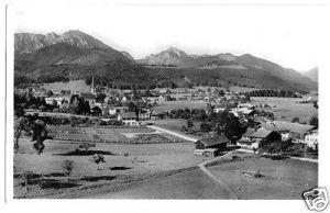 Ansichtskarte, Bergen Obb., Totale mit Hochfelln und Hochgern, 1950