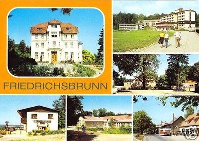 Ansichtskarte, Friedrichsbrunn Kr. Quedlinburg, sechs Abb., 1988