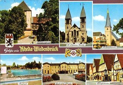 Ansichtskarte, Rheda-Wiedenbrück, sechs Abb. u.a. Bahnhof, 1978