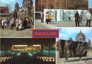 Ansichtskarte, Berlin Mitte, Marx-Engels-Forum, 4 Abb., 1986