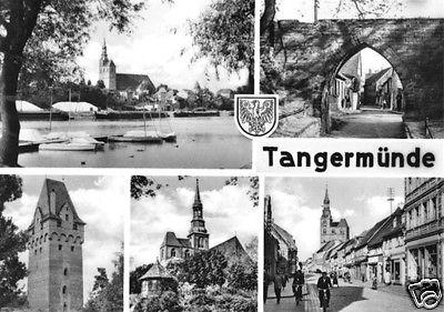 Ansichtskarte, Tangermünde Elbe, fünf Abb., 1968