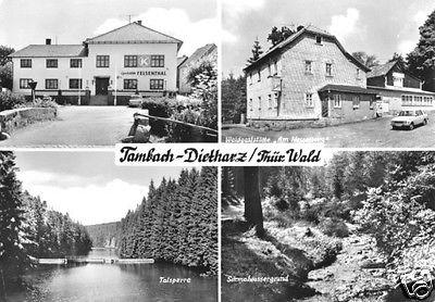 Ansichtskarte, Tambach-Dietharz, vier Abb., 1983