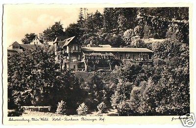Ansichtskarte, Schwarzburg Thür. Wald, Hotel-Kurhaus Thüringer Hof