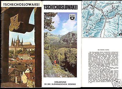 Drei Prospekte - Cedok-Reisebüro für die Tschechoslowakei, 1970er/80er