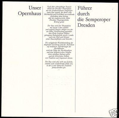 Unser Opernhaus - Führer durch die Semperoper Dresden, 1984