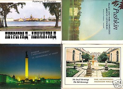 Posten von 19 Ansichtskarte- und Bildmappen, Sankt Petersburg, Leningrad und Umgebung